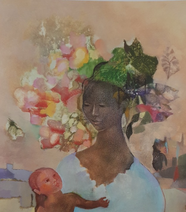 Balinese woman and child - Geneieve Couteau