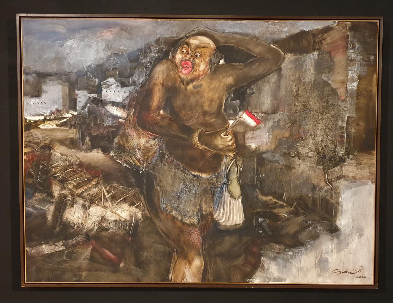 """Orang Gila"" 2000 - Nyoman Sukari, 150 x 200 cm, oil on cnvas. Image Richard Horstman"
