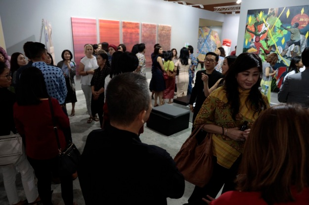 Art Jakarta enjoyed large audiences and strong sales during the fair the that ran 30 August - 1 September. Image coutesy of Art Jakarta