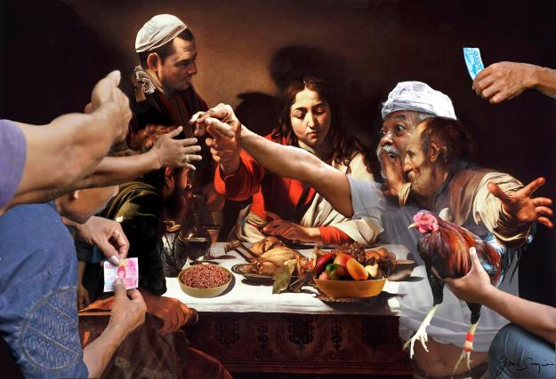 Bali Caravaggio (or the Feast of the Cockfight) - Joel Singer 2019