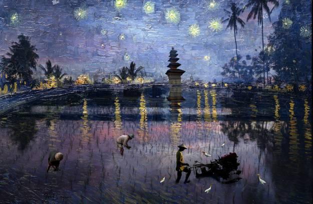 Bali Van Gough Revisited, 2018 - Joel Singer