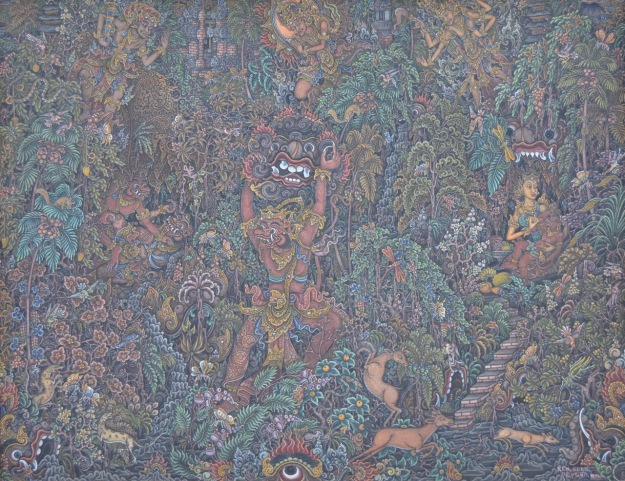 "Lot 786 ""Ramayana Scene"" Ketut Murtika. Image courtesy of Larasati Auctioneers"