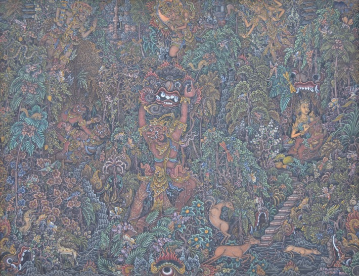 "Lot 786 ""Ramayana Scene"" Ketut Murtika. Image courtesy of Larasati Auctioneers"