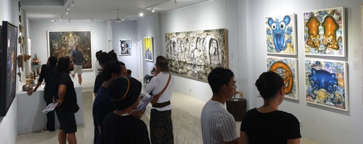 "Opening of ""Mahardika"" group exhibition 19 October at TiTian Art Space, Nyuh Kunning, Ubud. Image Richard Horstman"