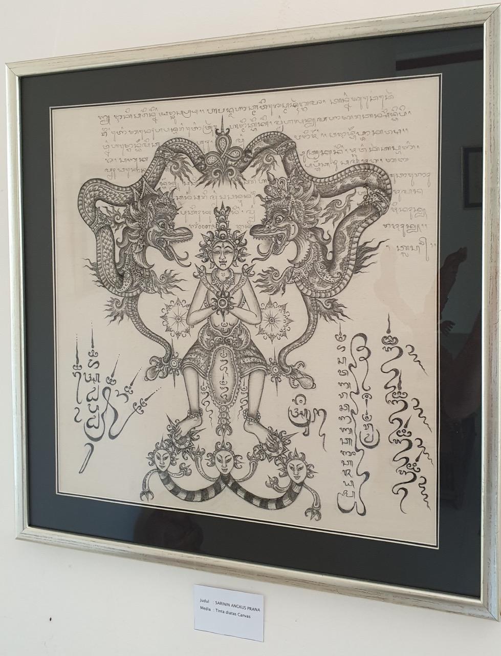 """Sarinin Angkus Prana"" by Jro Mangku Badra exhibited at ARMA in ""Frequency Balinese Art, Culture and Rerajahan"" Image Richard Horstman"