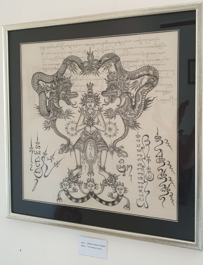 """Sarinin Angkus Prana"" by Jro Mangku Badra exhibited at ARMA in ""Frequency Balinese Art, Culture and Rerajahan"" Image Richard Horstman"