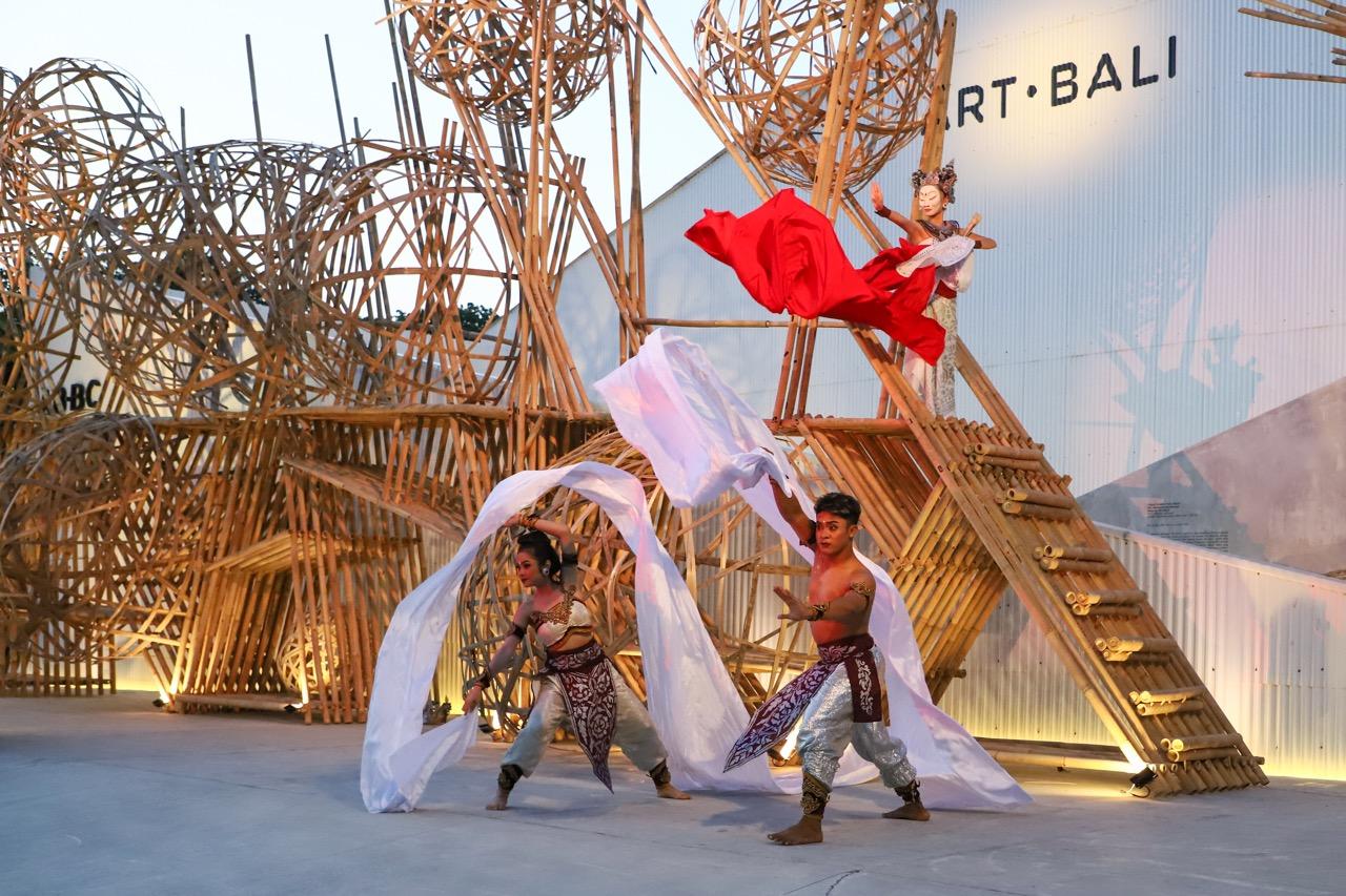 Art Bali opening performace by Kita Poleng Image courtesy of ArtBali