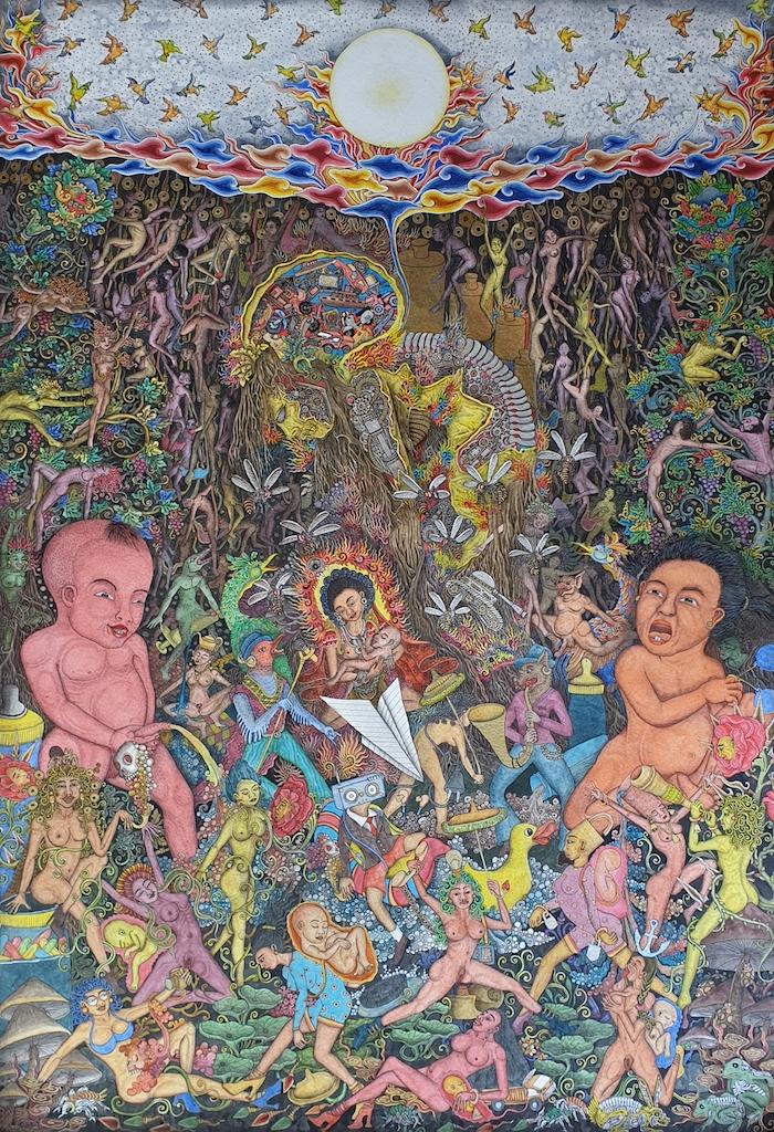 'Kesenagan Ku Derita Ku' 2019 (My Pleasure is my Pain) 2019 - Putu Adi 66 x 46 cm. Image Richard Horstman
