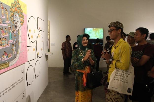 Pameran Apresiasi Perupa Muda Indonesia-Utusan Sosial-Kerja sama dengan Subdit Seni Rupa Kemdikbud RI Image courtesy of Bentara Budaya Bali